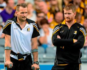 Injured Kilkenny players Jackie Tyrell, left, and Richie Power are set to feature in the final squad