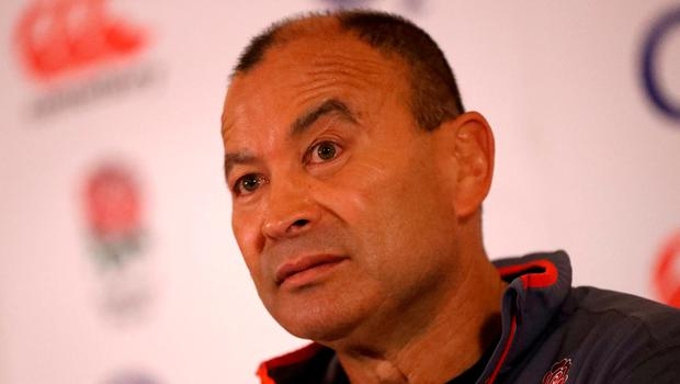 Eddie Jones, the England head coach faces the media during the England media session held at Pennyhill Park today