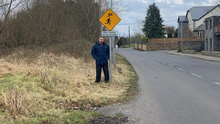 Councillor Thomas Healy on the Knockbeg Road in Collooney