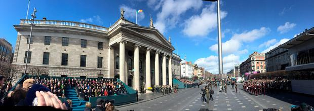 A sweeping view of the 1916 commemorations captured by Kevin Doyle on O'Connell Street in Dublin. Photo: