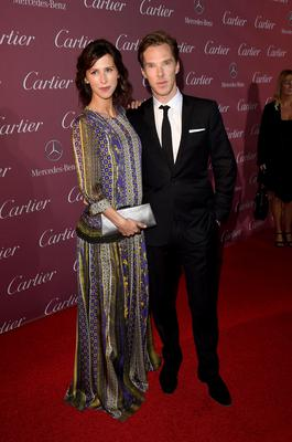 Actors Sophie Hunter (L) and Benedict Cumberbatch announced her pregnancy late last year.
