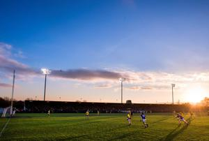 The sun sets over Fraher Field during Cratloe's Munster SFC semi-final defeat to the Waterford champions, The Nire, yesterday. Picture credit: Matt Browne / SPORTSFILE