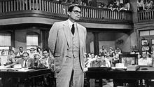 Contentious text: Gregory Peck in the 1962 big screen adaptation of Harper Lee's novel 'To Kill A Mockingbird'.