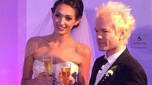 Deryck Whibley wed Ariana Cooper. Picture: Instagram