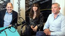 Presenter Brian Purcell, Jane McDaid, Think House PR and Eamon Fitzpatrick, IPG for Business Podcast.