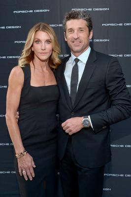 Actor Patrick Dempsey (R) and makeup artist Jillian Dempsey attend the Porsche Design Celebrates Festival of Watches