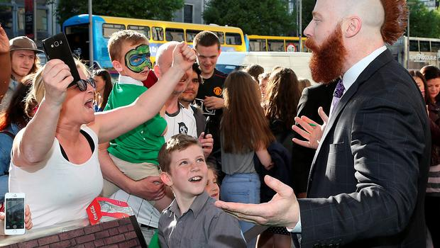 """Stephen Farrelly (Rocksteady)  who is best known to his fans worldwide as WWE Superstar """"Sheamus,""""who acts in the film tonight at the Irish premiere of Teenage Mutant Ninja Turtles: Out of the Shadows at the Savoy Cinema,Dublin. Pictures: Brian McEvoy"""