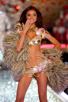 Miranda Kerr walks the runway at the 2007 Victoria's Secret fashion show held at the Kodak Theatre on November 15, 2007 in Hollywood, California. Getty Images