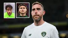 Richard Keogh and (inset) Harry Arter and Jeff Hendrick