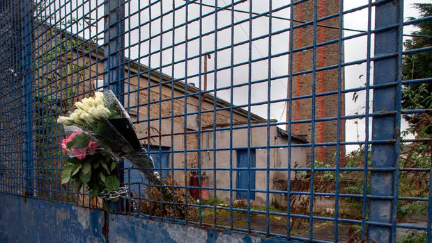 Flowers at the site of the Magdalene Laundry in Donnybrook