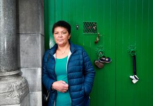 Delia Hanney from Broadstone who was in the Magdalene Laundry in Sean McDermott St from 1973-76, pictured outside the former laundry. Picture Credit: Frank McGrath 30/8/18