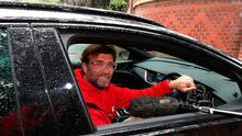 Liverpool manager Jurgen Klopp arrives at his home in Formby yesterday morning. Photo: Peter Byrne/PA