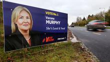 Controversial: An election poster in support of Verona Murphy on the N11 in Wexford. Photo: Steve Humphreys