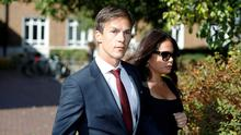 Ryder Cup winner Denmark's Thorbjorn Olesen leaves the Isleworth Crown Court in Isleworth, Britain September 18, 2019. REUTERS/Phil Noble
