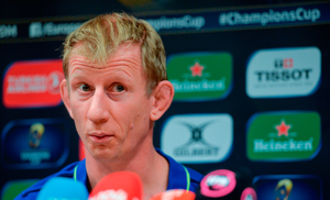 Leinster head coach Leo Cullen during a press conference