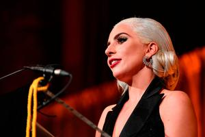 Lady Gaga accepts the Best Actress award for A Star Is Born during The National Board of Review Annual Awards Gala at Cipriani 42nd Street on January 8, 2019 in New York City.  (Photo by Dia Dipasupil/Getty Images for National Board of Review)
