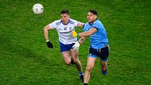 Dublin's Kevin McManamon in action against Monaghan's Shane Carey during last weekend's Allianz Football League clash at Croke Park. Photo: Stephen McCarthy/Sportsfile