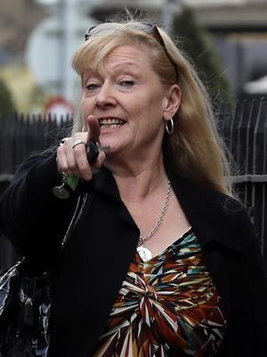 Bernadette Moore of Poppintree, Dublin, leaves the Four Courts yesterday after she was awarded €17,470 damages in a Circuit Civil Court action. Photo: Collins Courts