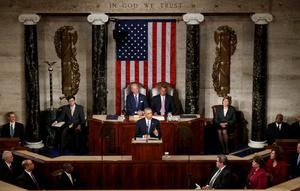 SPEECH: U.S. President Barack Obama delivers his State of the Union address to a joint session of the US Congress on Capitol Hill in Washington last Tuesday. Photo: Reuters/Kevin Lamarque