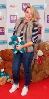 Lauren Fagan at The #LoveTheBear selfie campaign launch to raise funds for The Blue Box creative arts therapy centre which took place at Hamley's Dundrum,Dublin