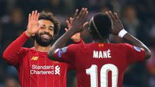 Salah celebrates netting Liverpool's fourth goal. Photo: Catherine Ivill/Getty Images