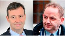 Michael D'Arcy (left) and Maurice McCabe