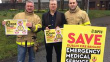 Joe Duffy joins the Dublin Fire Brigade protest. Credit: SIPTU / Facebook