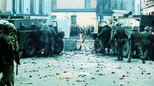 Darkest hour: Bloody Sunday in Derry in 1972, when members of the British Army's Parachute Regiment opened fire on a civil rights march through the city. Photo: Pacemaker
