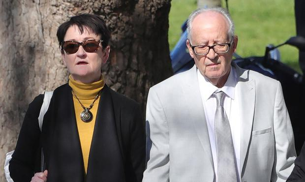Bereaved parents: Geraldine and Patric Kriegel leave court yesterday. Photo: Collins