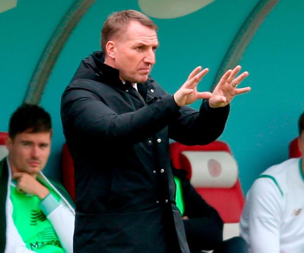 Celtic's manager Brendan Rodgers. Photo: Jane Barlow/PA Wire
