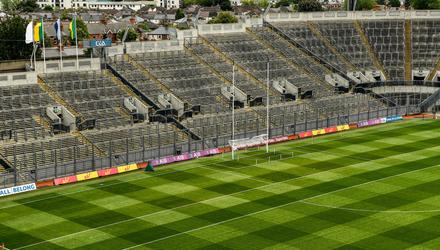 A general view of Croke Park showing an empty Hill 16