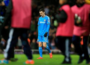 Sunderland's Adam Johnson walks off dejected after the game against West Ham United (Nigel French/PA Wire)