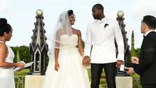 Gabrielle Union and Dwayne Wade in their wedding video in September.