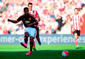 Anthony Martial of Manchester United scores his and his team's second goal