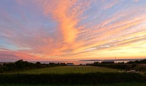 Rob Brown also sent this view - from the bottom of his garden in Harrylock, Co. Wexford. I don't think there is a better view in Ireland.