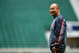 LONDON, ENGLAND - MARCH 10:  Eddie Jones head coach of England looks on during the England Captain's Run on the eve of the RBS 6 Nations match against Scotland at Twickenham Stadium on March 10, 2017 in London, England.  (Photo by Dan Mullan/Getty Images)