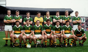 The Kerry team that completed their three-in-a-row after defeating Tyrone 2-15 to 1-10 on September 21, 1986 in Croke Park.
