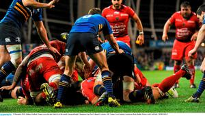 19 December 2015; Anthony Etrillard, Toulon, scores his side's third try of the match. Picture credit: Seb Daly / SPORTSFILE