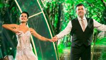 Des Cahill with dance partner Karen Byrne on Dancing with the Stars. Photo: Kyran O'Brien