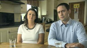 Teresa and Ronan Dunne, parents of Eoghan Dunne who was a patient at Portiuncula Hospital, Co. Galway. Photo: RTE Prime Time