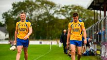 Joe, left, and Jack Canning of Portumna after seeing red