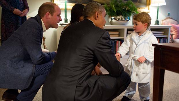 President Barack Obama meeting Prince George