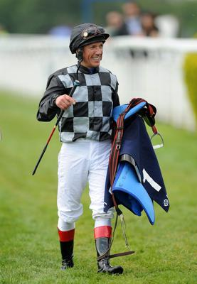 Jockey Frankie Dettori after finishing the Princess Elizabeth Stakes on Beatrice Aurore during The Investec Ladies Day : Andrew Matthews/PA Wire.