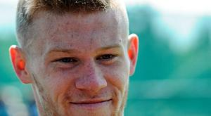 Republic of Ireland's James McClean during a pitchside update