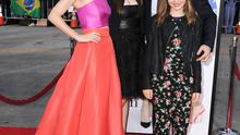 """WESTWOOD, CA - APRIL 21:  Leslie Mann, Judd Apatow, Iris Apatow and Maude Apatow arrives at the """"The Other Woman"""" - Los Angeles Premiere at Regency Village Theatre on April 21, 2014 in Westwood, California.  (Photo by Steve Granitz/WireImage)"""