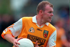 Former Antrim football captain, Anto Finnegan was diagnosed with Motor Neuron Disease in 2012 and has since set up the charity deterMND in a bid to raise awareness of the debilitating condition. David Maher/SPORTSFILE