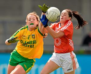 Donegal's Shannon McGroddy in action against Sinead McCoy of Armagh