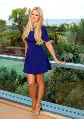 Rosanna Davison pictured enjoying some bubbles as SeaSpa at Kelly's Resort at their 10th birthday party celebrations