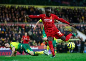 Sadio Mane scored on his return as Liverpool beat Norwich 1-0. (Photo by Julian Finney/Getty Images)