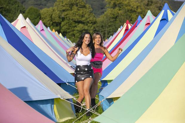 02/08/2019. All Together Now festival at Curraghmore, Co Waterford are Sara Hurley and Aoife McCabe from Dublin . Picture: Patrick Browne.